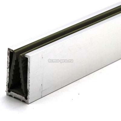 П1587-2500 профиль стекло-стена с уплотнителем из ПВХ для душевой кабины
