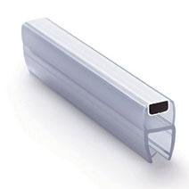 ПМ111-008BW профиль магнитный для стекла 8 мм, 2,2 м